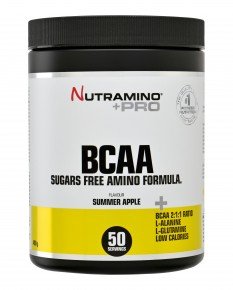 Nutramino BCCA Pulver Summer Apple 400g highres