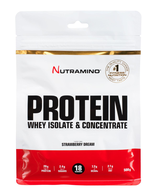 Nutramino Strawberry_Protein pulver_500g