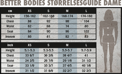 Better Bodies Womens size guide_01