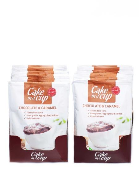 Cake in a cup Sjokolade og Karamell 20-pakning - 20x65 g