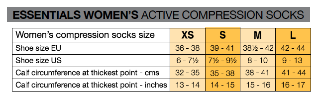 womens-active-compression-socks-size-chart