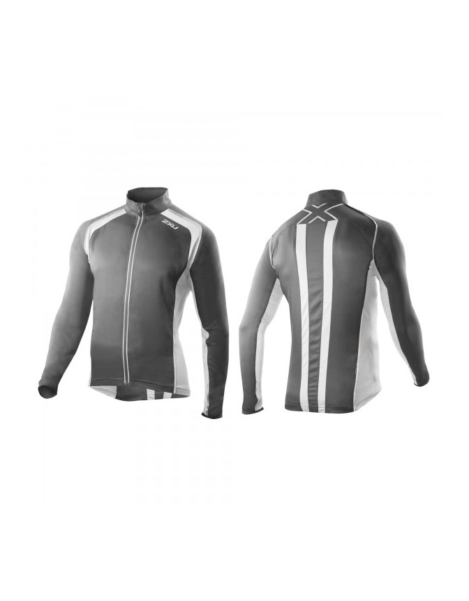 2XU 360 Run Jacket Mens Charcoal/White S