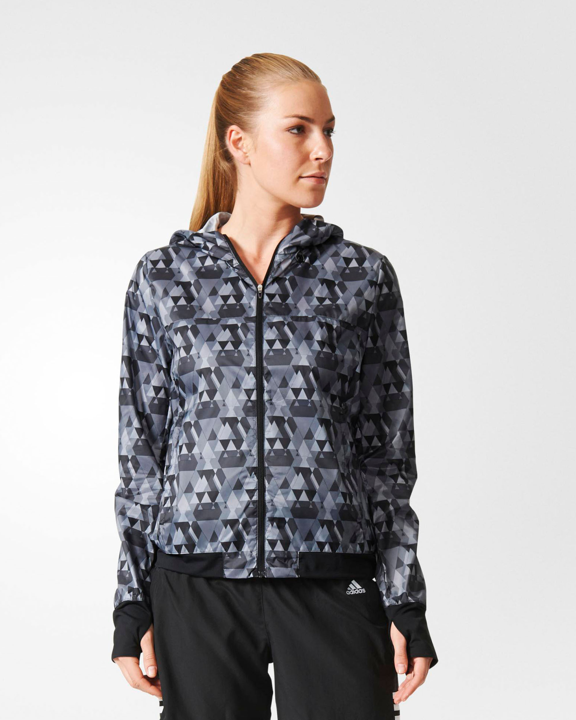 adidas Womens Performance Run Graphic Jacket Tights.no