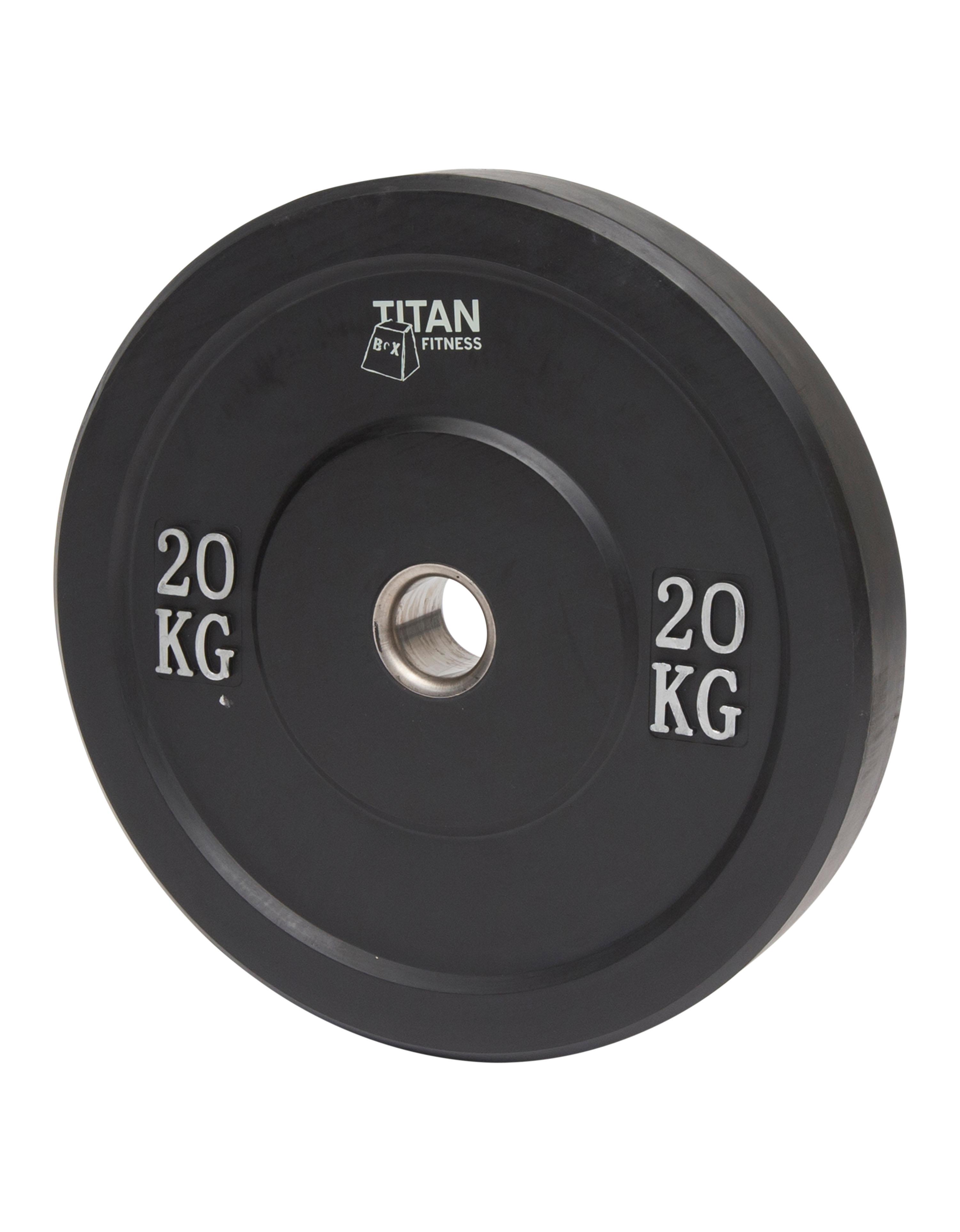 Titan BOX Bumper plates 20 kg Black