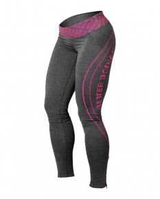 Better Bodies Womens Shaped Logo Tights Antracitemelange_Pink 110765924