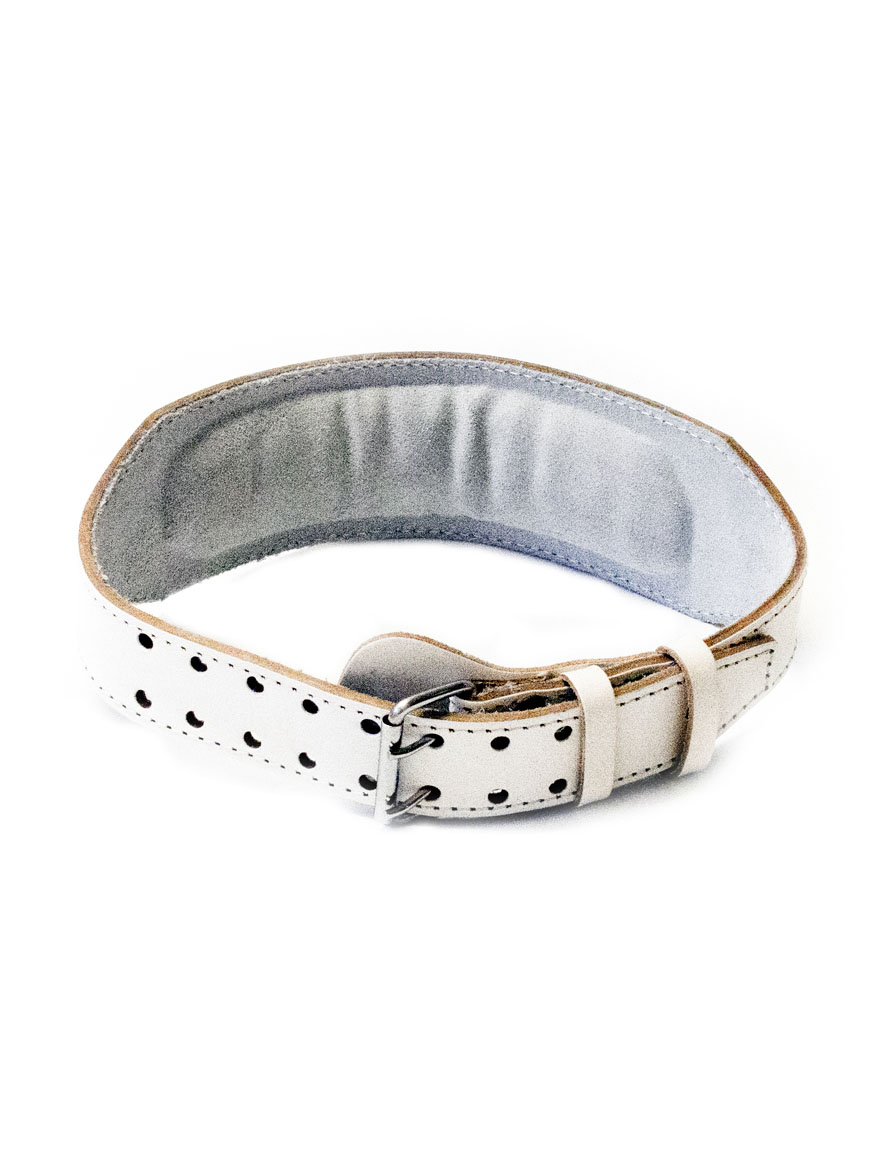 LEVITY Olympic Weight Lifting belt White_02