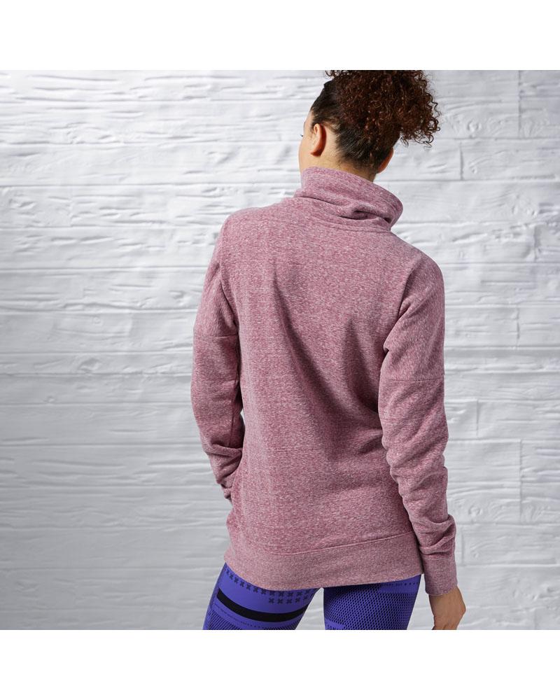 f92ca1ec Reebok Womens Elements Logo Cowl Neck Sweatshirt - Rebel Berry ...