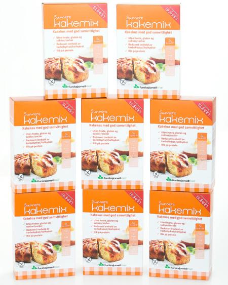 Sunnere Kakemix Glutenfri 8-pakning