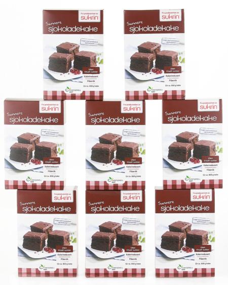 Sunn Sjokoladekake uten sukker 8-pakning