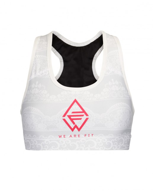 We Are Fit Lace Top front