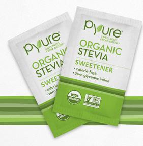 Pyure Organic Stevia, 1000 porsjonspakker