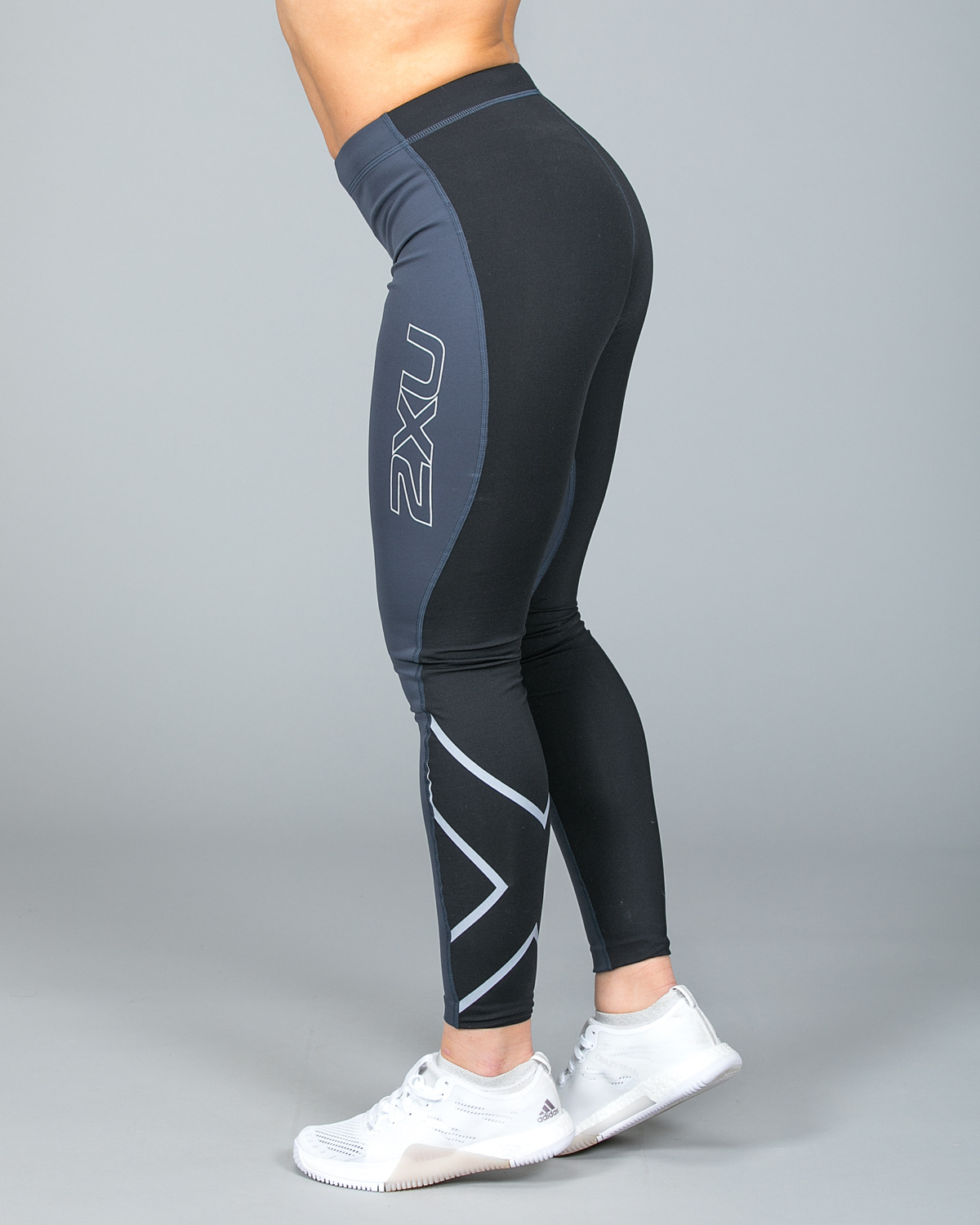45dbbd84 ... 2XU Wind Defence Thermal Compression Tights Dame Steel Black. _W2A6620
