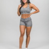 Skiny Yoga & Relax Hot Pants 082706 and Crop Top 082702, Black Grey Melange