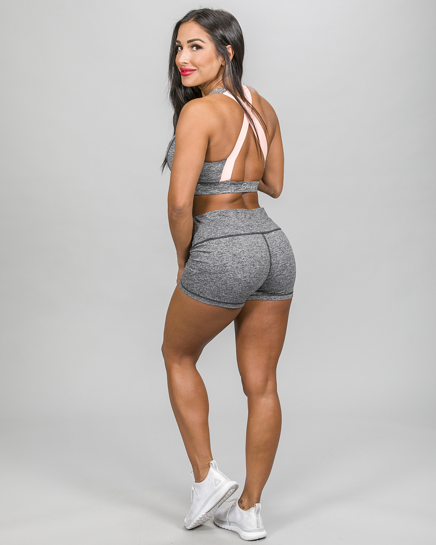 Skiny Yoga & Relax Hot Pants 082706 and Crop Top 082702, Black Grey Melange c