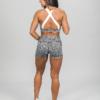Skiny Yoga & Relax Hot Pants 082706 and Crop Top 082702, Black Grey Melange d