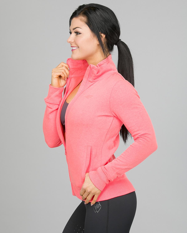 4F Sweatshirt, Neon Coral h4l17-bld002-1969 b