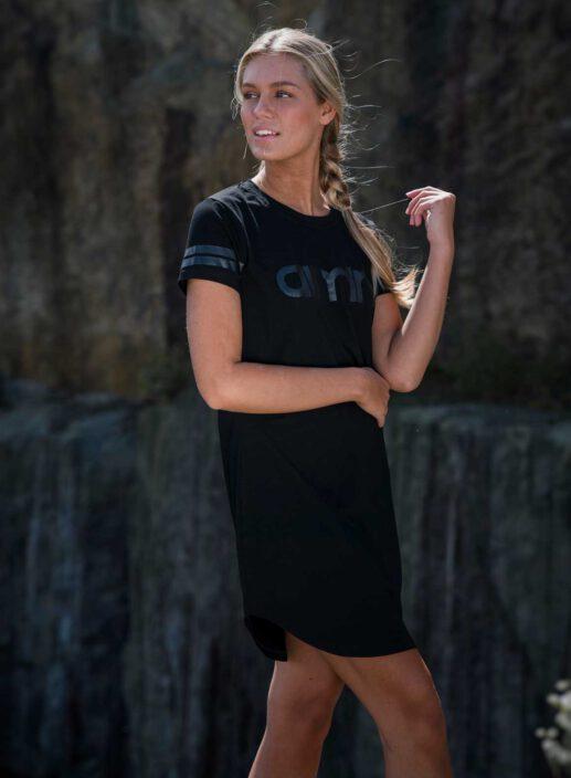 Aim'n Black Short Sleeve Dress 17070008 b