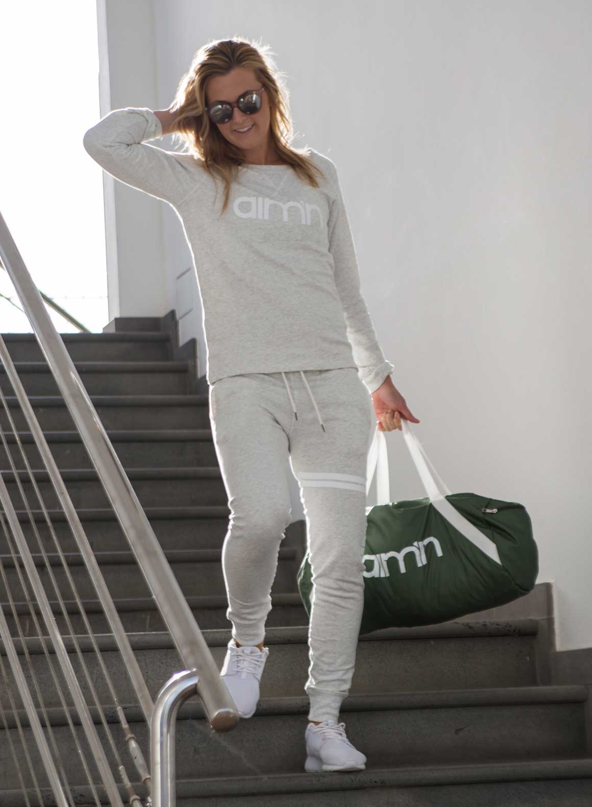 Aim'n Grey Sweatshirt 17050014 and -pants 17010007 c