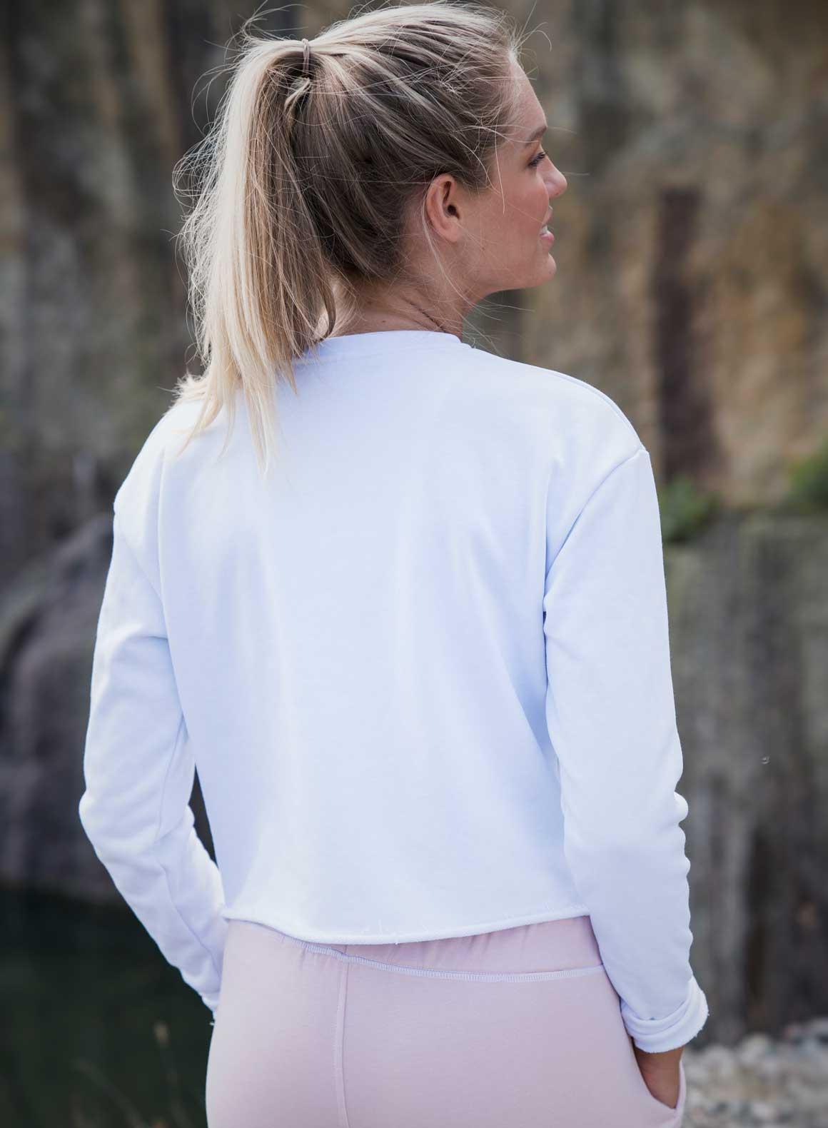 Aim'n White Crop Sweatshirt 17050009 b