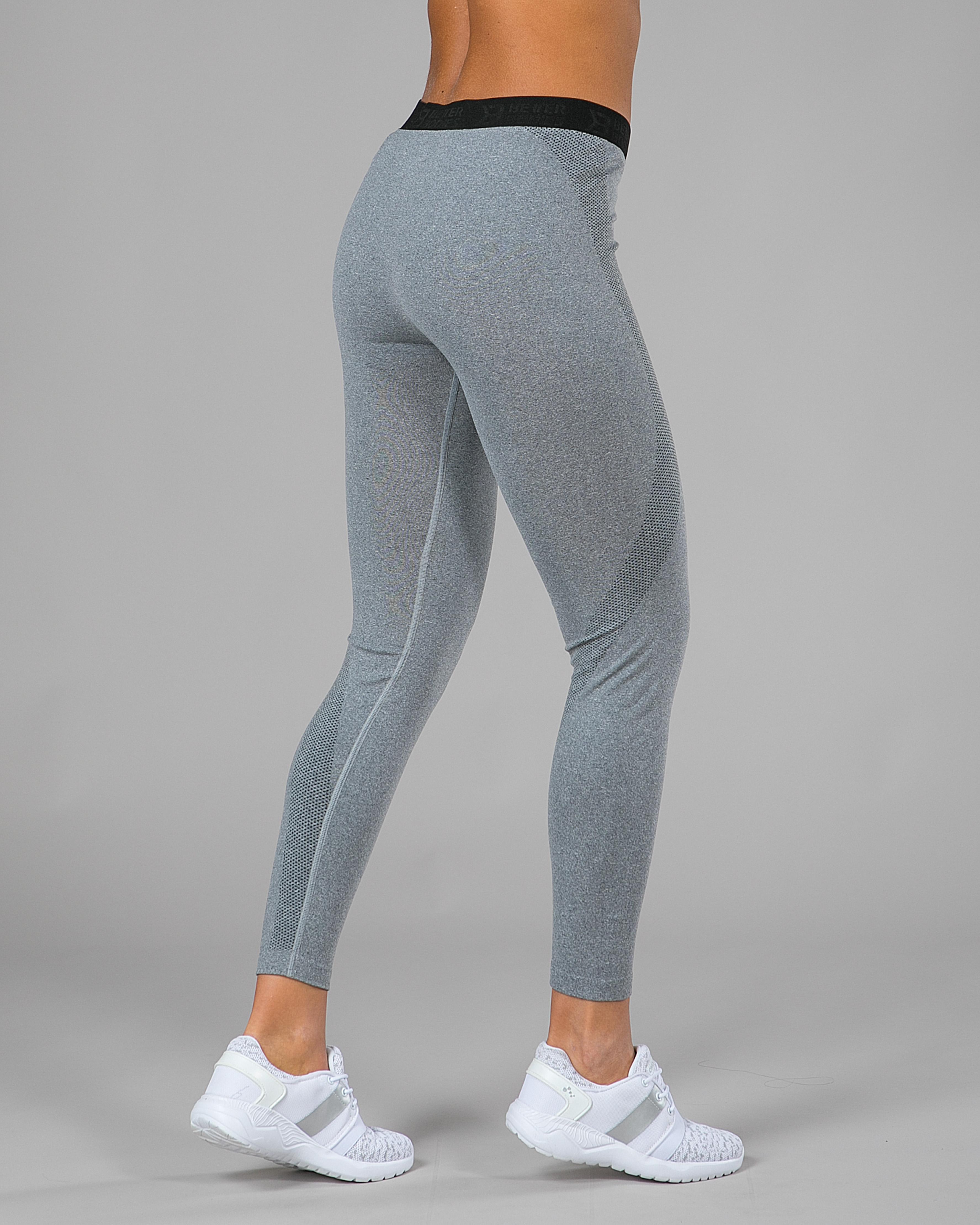 Better Bodies Astoria Curve Tights Greymelange Tights.no