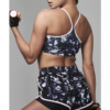 Ellesport Printed Racer Back Bra with Support - Opulence Print