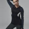 Ellesport Contour Panelled Statement Workout Jacket – Black/Rococo