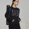 Ellesport Washed Long Sleeve Slouch Top – Black