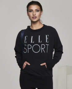 Ellesport Washed Long Sleeve Slouch Top – Black