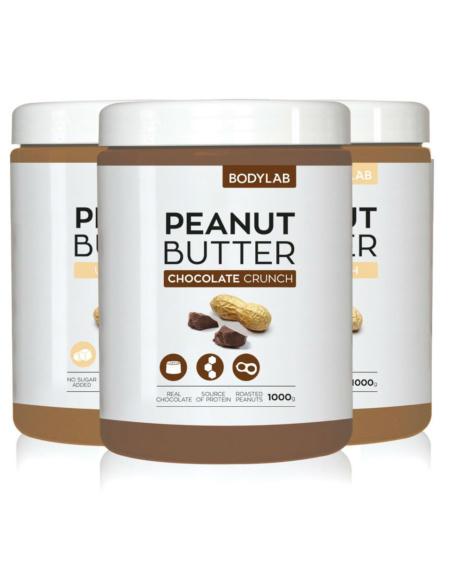 Bodylab Peanut Butter 3x1kg - TREPAKNING