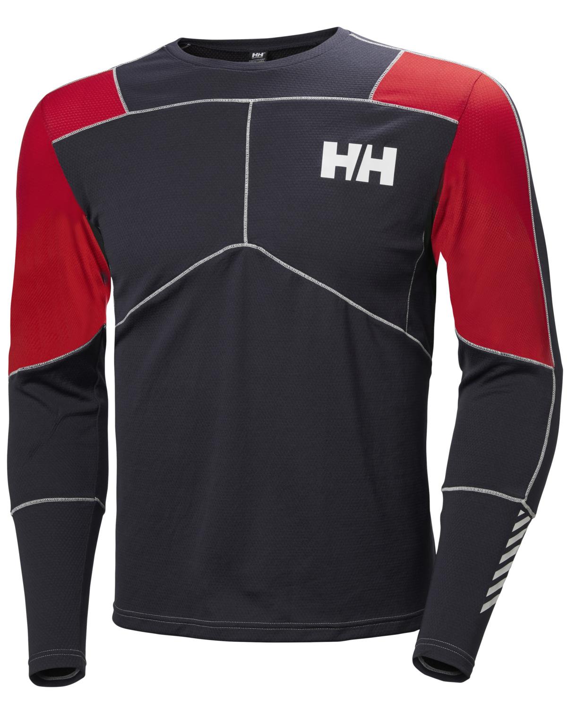 Helly Hansen Lifa Active Crew – Graphite Blue/Flag Red