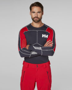 Helly Hansen Lifa Active Crew – Graphite Blue/Flag Red