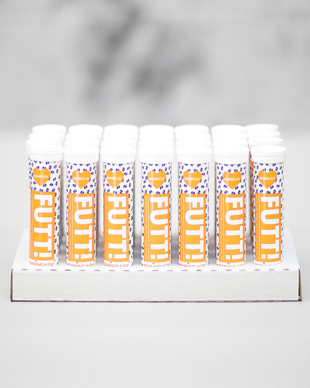 M/ Koffein Orange Mandarin - Bonuspakke 560 tabletter