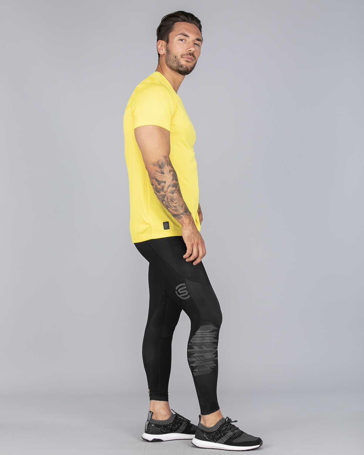 Skins Activewear Avatar Mens Round Neck Short Sleeve Tee CitronMarle (7)