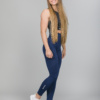 Famme Vortex Legging - Navy Blue vhwl-nv and Famme Crop Top - Black bct-bk e