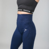 Famme Vortex Legging - Navy Blue vhwl-nv and Famme Crop Top - Black bct-bk f