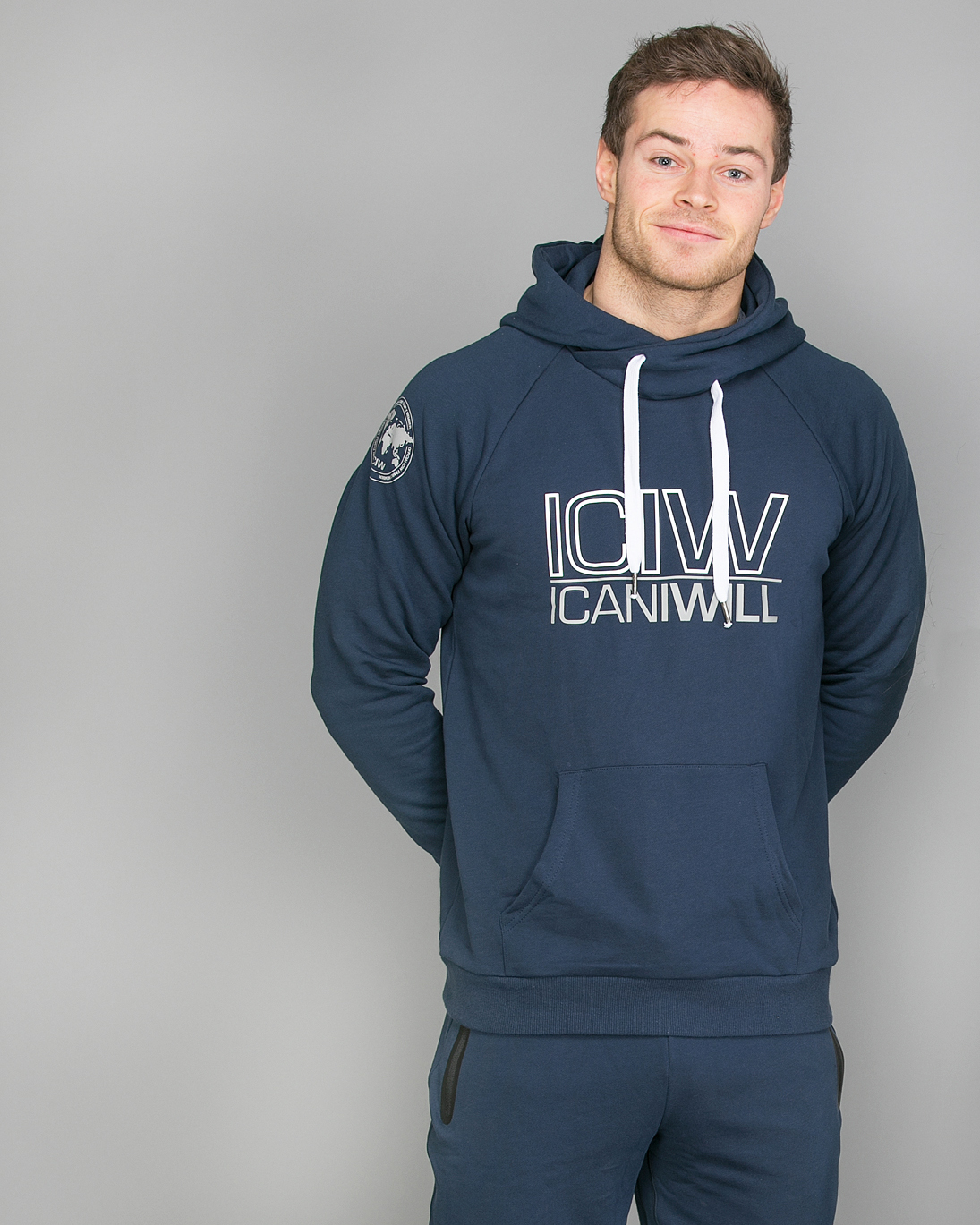 Icaniwill Hoodie Navy Men a