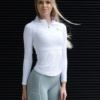 Famme White Long Sleeve Top – White