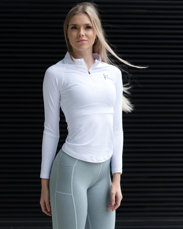 Famme White Long Sleeve Top – White