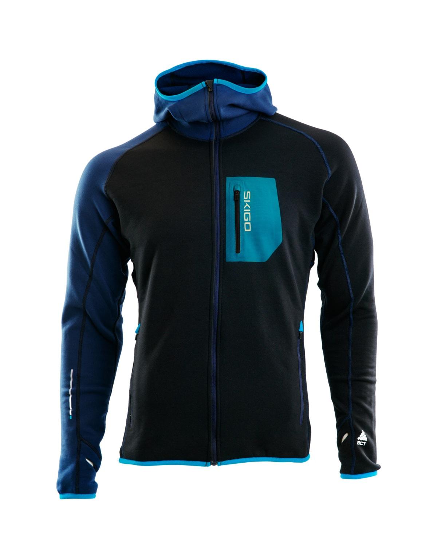 Skigo 1602028 Elevation Wool Fleece Jacket Black