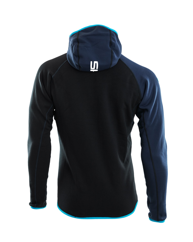 Skigo 1602028 Elevation Wool Fleece Jacket Black back
