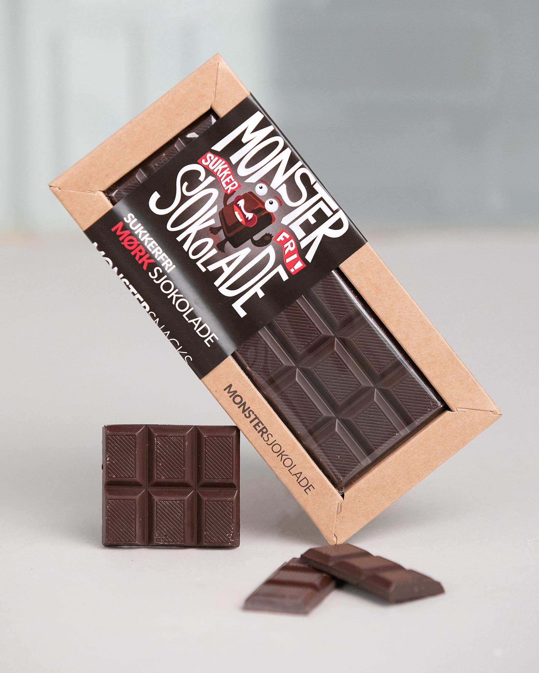 a8c7a2f55 Monster Sukkerfri Mørk Sjokolade 50g