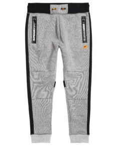 Superdry Gym Tech Stripe Jogger - Grey Grit/Black