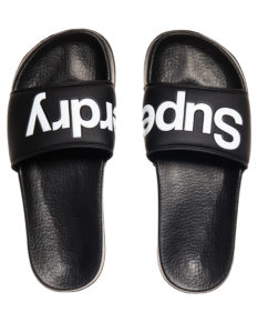 Superdry Superdry Pool Slide - Black/Optic white