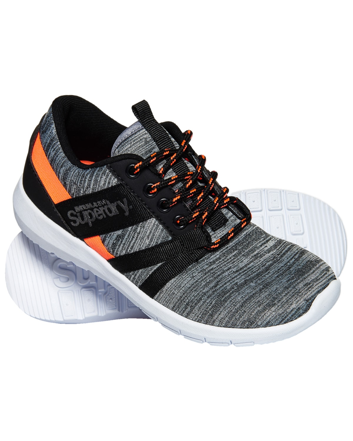Superdry Scuba Stadium Train - Grey Slub/Coral