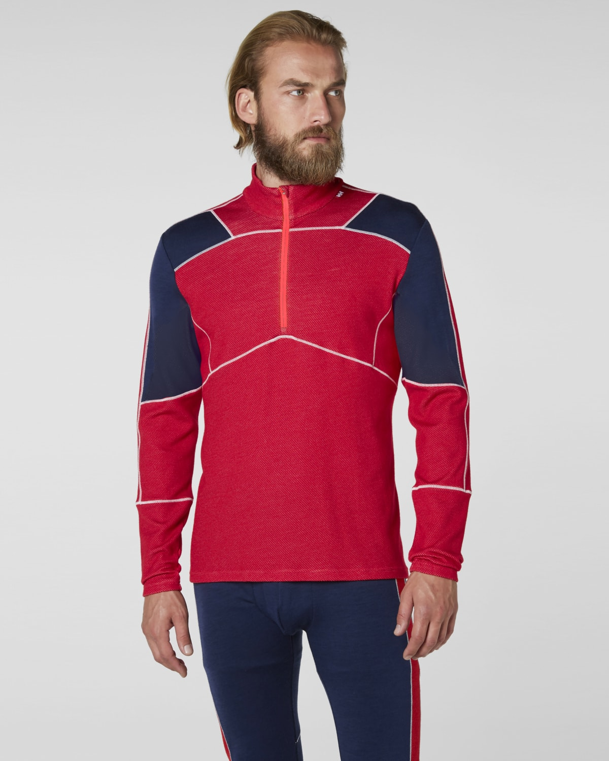 Helly Hansen Lifa Merino 1/2 Zip – Flag Red