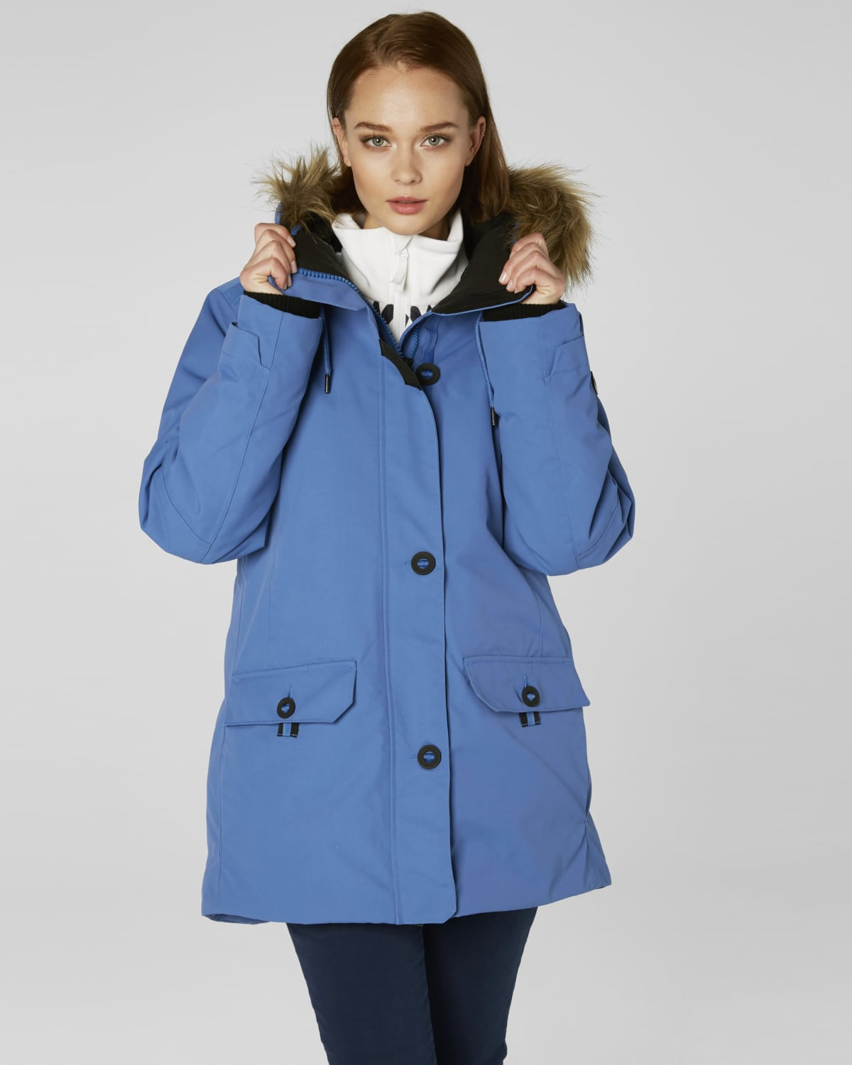 fantastic savings best quality for big selection Helly Hansen Women Svalbard Parka - Stone Blue - Tights.no
