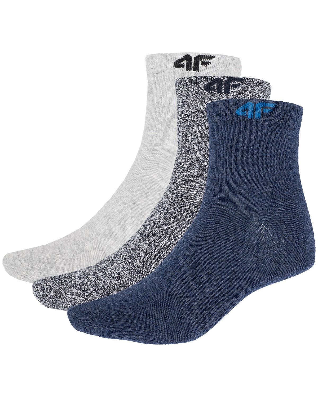 4F Socks – Denim Mel/Light Gray Mel/Outer