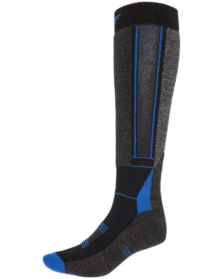 4F Ski Socks - Dark Gray Melange