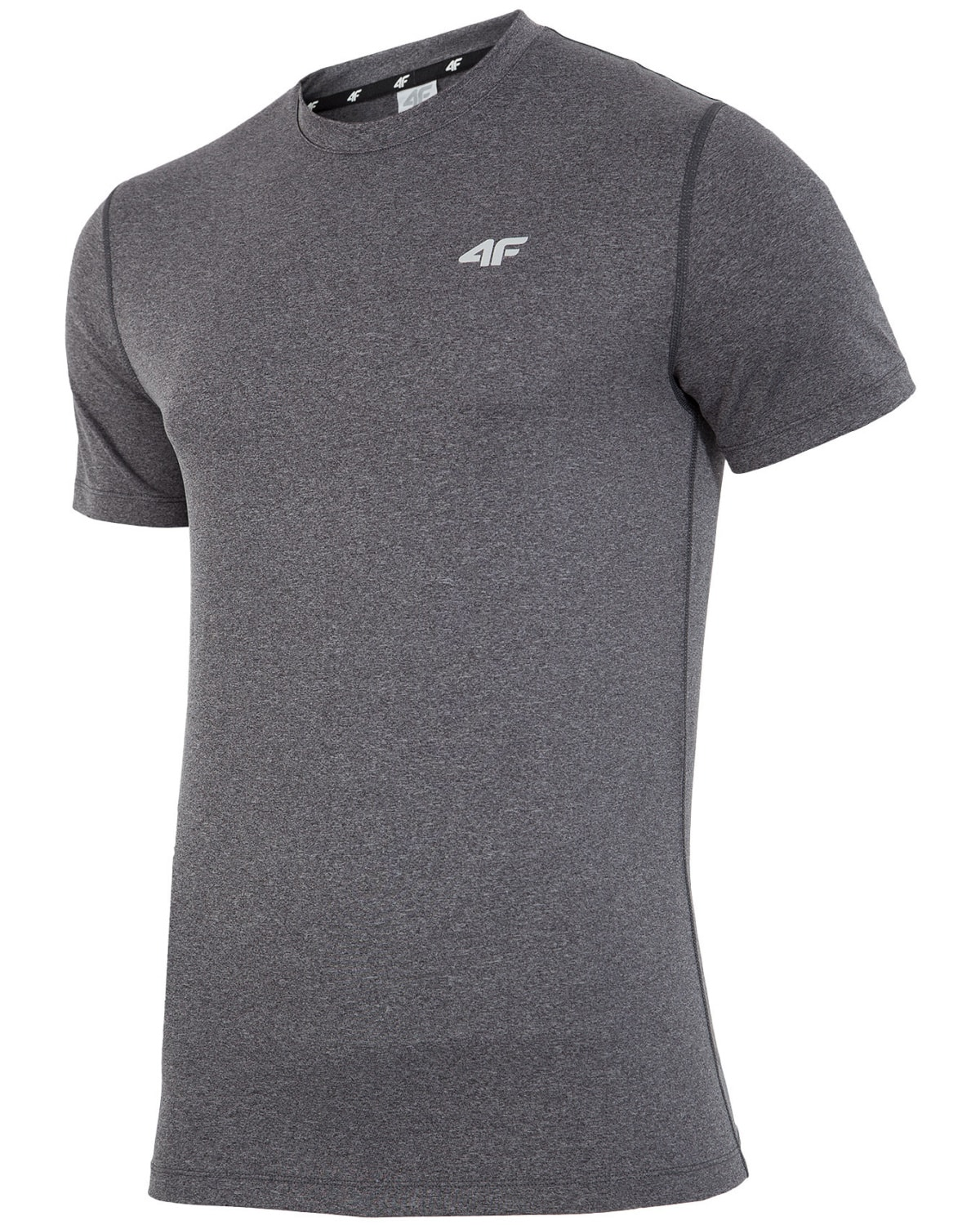 4F T-Shirt Fitness – Dark Gray Melange