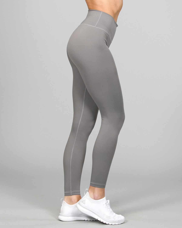 Famme Essential High Waist Legging – Grey ehwt-gr b